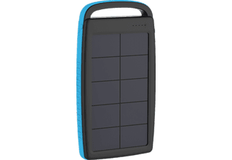 XLAYER PLUS Solar Powerbank 74 Wh (3.7V / 20.000 mAh) Schwarz/Blau