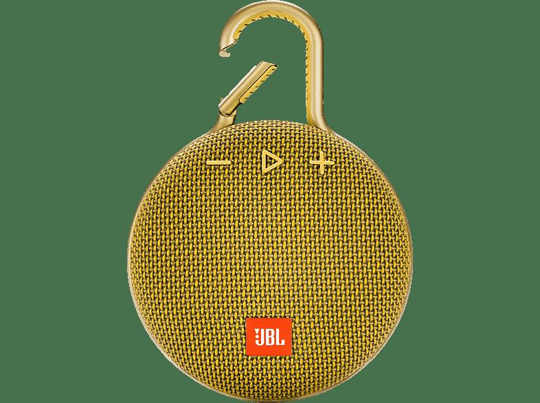 JBL Clip 3 Bluetooth Lautsprecher, Gelb, Wasserfest