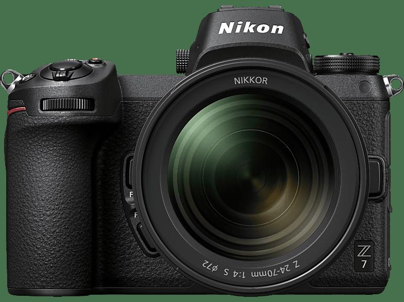 NIKON Z7 Kit Systemkamera 45.7 Millionen Pixel mit Objektiv 24-70 mm , 8 cm Display   Touchscreen, WLAN