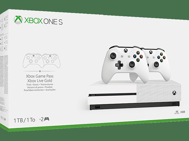 MICROSOFT Xbox One S 1TB Konsole + 2. Controller Bundle