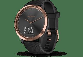 GARMIN VIVOMOVE HR, Smartwatch, S/M 122 bis 188 mm Umfang, Schwarz/Rosegold
