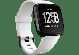 FITBIT Versa Smartwatch Aluminium Kunststoff, S-L, Schwarz/Weiß