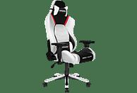 AKRACING Master Premium Gaming Stuhl, Farbe Rückenlehne: Schwarz, Rot, Weiß; Farbe Sitzfläche: Schwarz, Weiß