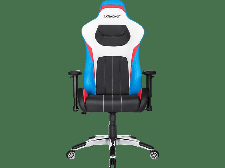 AKRACING Master Premium Gaming Stuhl, Farbe: Farbe Rückenlehne: Schwarz, Blau, Rot, Weiß; Farbe Sitzfläche: Schwarz, Ro