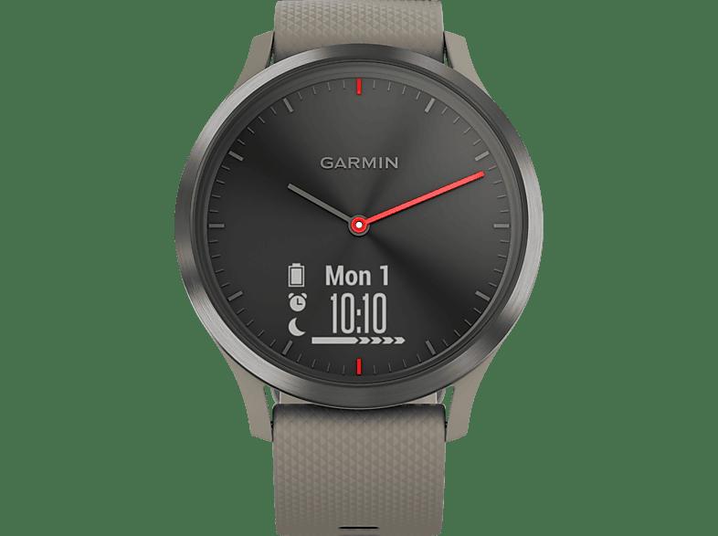 GARMIN VIVOMOVE HR, Smartwatch, Einheitsgröße, Schwarz mit sandsteinfarbenem Silikonarmband