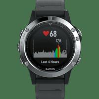 GARMIN Fenix 5, Smartwatch, ca. 240 mm, Schwarz/Silber