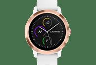 GARMIN VIVOACTIVE 3 Smartwatch Silikon, 127 bis 204 mm Umfang, Weiß/Silikon/Roségold
