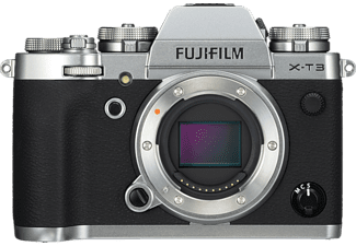 FUJIFILM Systemkamera X-T3 Gehäuse, 26.1MP APS-C, 4K60p, 11B/s, OLED Sucher, 3 Zoll Touch LCD, Silber