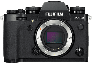 FUJIFILM Systemkamera X-T3 Gehäuse, 26.1MP APS-C, 4K60p, 11B/s, OLED Sucher, 3 Zoll Touch LCD, Schwarz