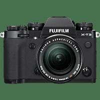 FUJIFILM X-T3 inkl. XF18-55mmF2.8-4 R LM OIS Kit Systemkamera 26.1 Megapixel mit Objektiv 18-55 mm F2.8-4, 7,6 cm Display, WLAN