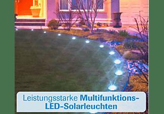 MEDIA SHOP Disk Lights LED Solarleuchten 4er Set