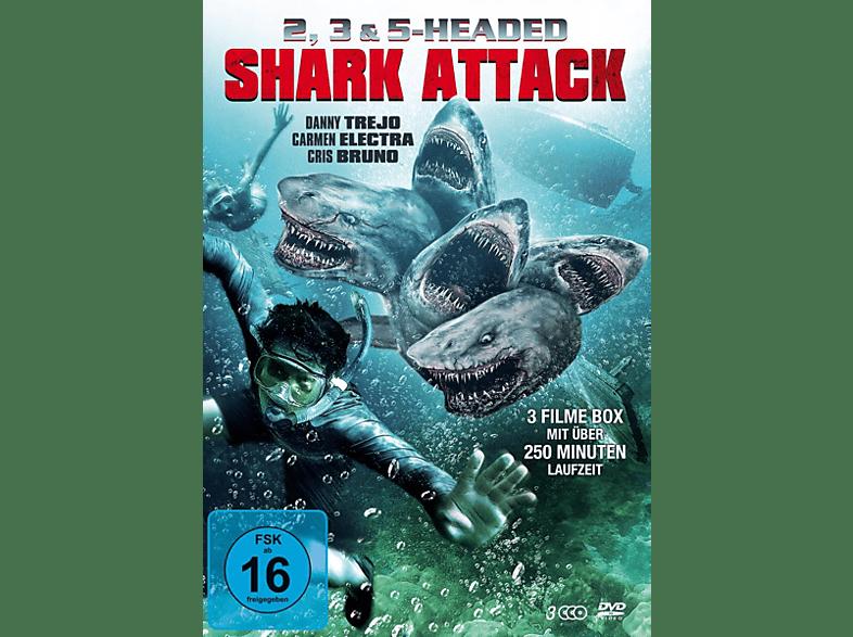 2, 3 & 5 Headed Shark Attack Box [DVD]