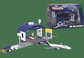 DICKIE TOYS Dickie Toys Creatix Flughafen Lufthansa Hangar Spielset, Mehrfarbig