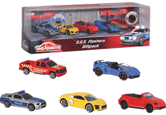 DICKIE TOYS S.O.S Flashers 5 Pieces Giftpack Spielzeugauto Mehrfarbig