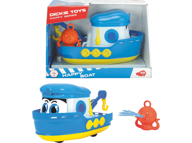 DICKIE TOYS Happy Boat Spielzeugboot, Blau/Weiß