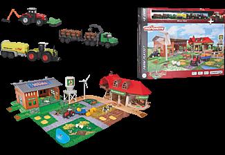 MAJORETTE Creatix Big Farm + 5 Fahrzeuge Spielset mit Zubehör Mehrfarbig