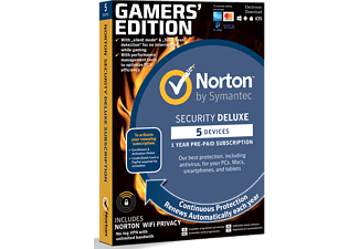 NORTONLIFELOCK Norton Security Deluxe Gamers Edition (5 enheter, 1 år)