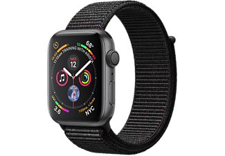 APPLE Watch Series 4 - Boîtier aluminium 44mm Space Gray - Bracelet sport Loop Black