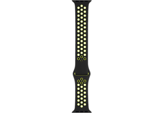 APPLE Watch 40 mm Nike Sport Armband S/M/L - Svart/Volt