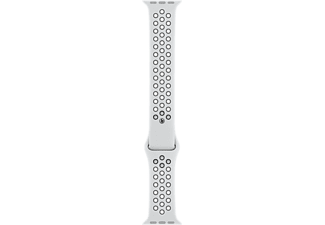 APPLE Watch 44 mm Nike Sport Armband S/M/L - Platina/Svart