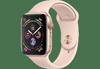 APPLE Watch Series 4 (GPS + Cellular) 40 mm Smartwatch Aluminium Kunststoff, 130-200 mm, Armband: Sandrosa, Gehäuse: Gold
