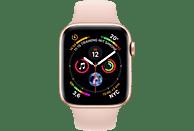 APPLE Watch Series 4 (GPS + Cellular) 44mm Smartwatch Aluminium Kunststoff, 140-210 mm, Armband: Sandrosa, Gehäuse: Gold
