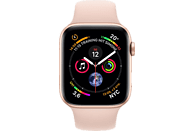 APPLE Watch Series 4 44mm  Smartwatch Aluminium Kunststoff, 140-210 mm, Armband: Sandrosa, Gehäuse: Gold