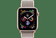 APPLE Watch Series4 44mm Smartwatch Aluminium gewebtes Nylon, 140-210 mm, Armband: Sandrosa, Gehäuse: Gold