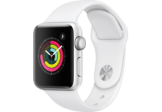 APPLE Watch Series 3 38mm zilver aluminium / wit sportbandje