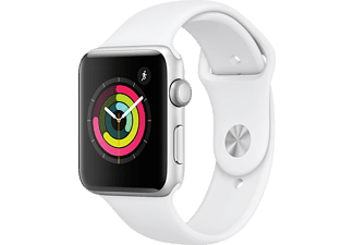 APPLE Watch Series 3 42mm zilver aluminium / wit sportbandje