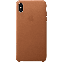 APPLE MRWV2ZM/A , Backcover, Apple, iPhone XS Max, Echtleder, Sattelbraun