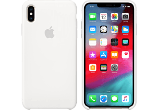 APPLE XS Max Silikon Case, Backcover, Apple, iPhone XS Max, Weiß