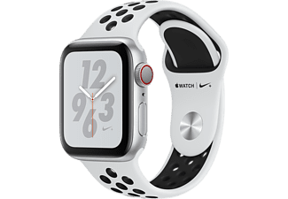 APPLE Watch Series 4 GPS + Cellular eSIM Nike+ 40mm Aluminiumboett i Silver- Sportband Svart/Pure Platinum