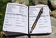 ROBOTERWERK Logbuch zur Flug-Dokumentation mit Touch Pen Notizbuch