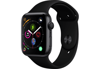 APPLE Watch Series 4 44mm Space Grey με Μαύρο Sport Band