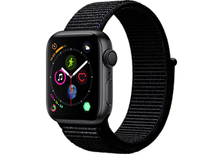 APPLE Watch Series 4 40mm Space Grey με Black Sport Loop