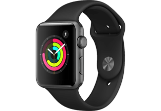 APPLE Watch Series 3 42mm Space Grey με Μαύρο band