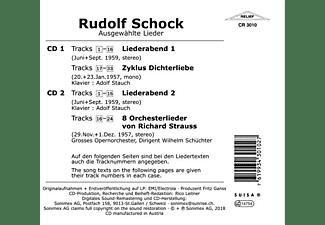 Schock/Stauch/SChüchter/Grosses Opernorchester - Rudolf Schock singt ausgewählte Lieder  - (CD)