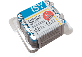 ISY AAA Batterier  20 Pack