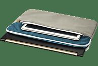 HAMA Florenz Notebooktasche, Sleeve, 13.3 Zoll, Grau/Petrol