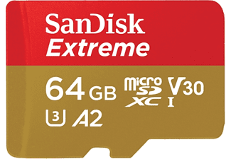 SAN DISK SANDISK 64GB  MICRO SD EXTREME 90 MB/sec