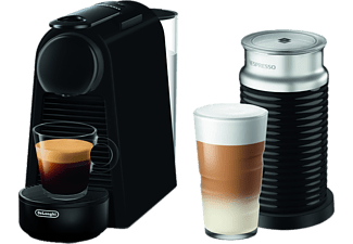DE LONGHI Nespresso Kaffeemaschine Essenza Mini + Milk EN 85.BM in Matt Schwarz