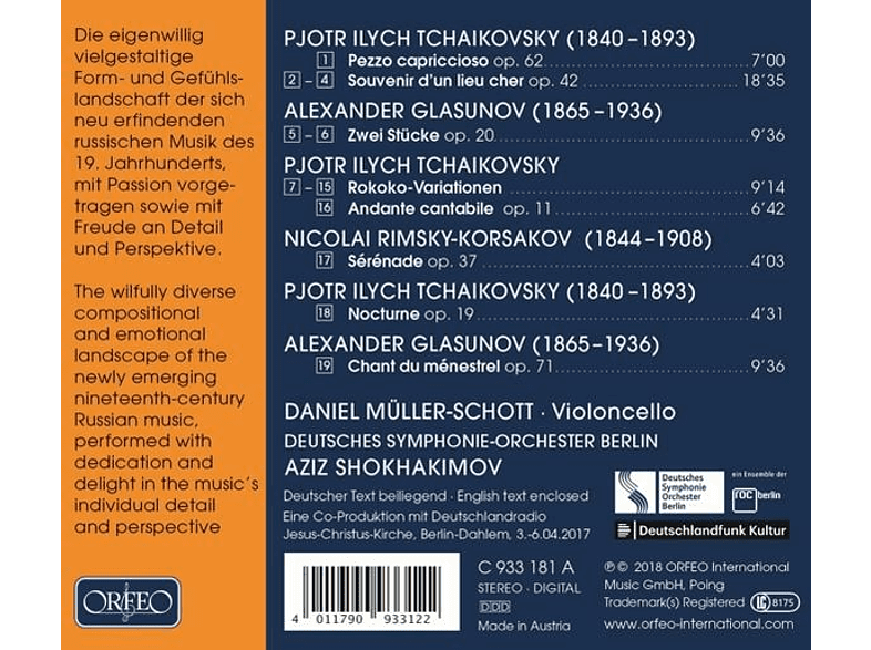 Müller-Schott/Shokhamikov/DSO Berlin - Trip to Russia [CD]