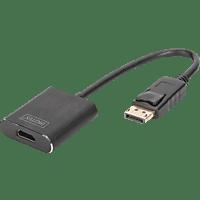 DIGITUS DA-70472 HDMI Konverter, Adapter, Ultra HD (4K2K/60Hz) Schwarz , DisplayPort
