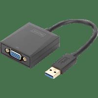 DIGITUS DA-70840 USB 3.0 auf VGA Video Adapter, Auflösung bis zu 1080p Grafikadapter