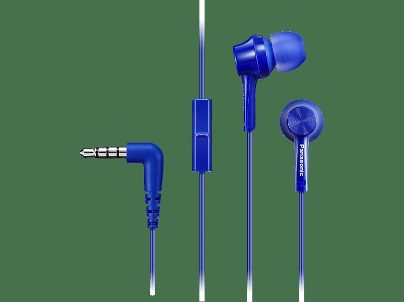 PANASONIC RP-TCM115E-A, In-ear Kopfhörer  Blau