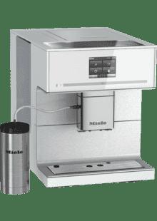 Miele CM 6350 Kaffeevollautomat OneTouch- und OneTouch for zwei-Zubereitung, vier Genie/ßerprofile, Tassenw/ärmer, Hei/ßwasserauslauf, Tassenbeleuchtung, automatische Sp/ülprogramme obsidian-schwarz