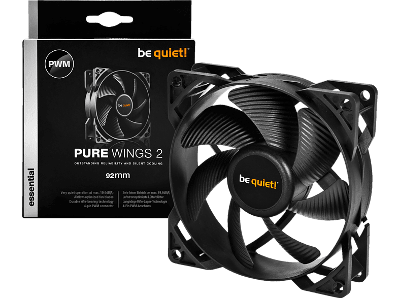 BE QUIET PURE WINGS 2 92mm PWM Lüfter