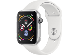 APPLE Watch Series 4 - Aluminium behuizing 44mm Silver - Sportbandje White