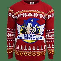 NUMSKULL Sonic the Hedgehog Xmas Pullover S Pullover, Mehrfarbig